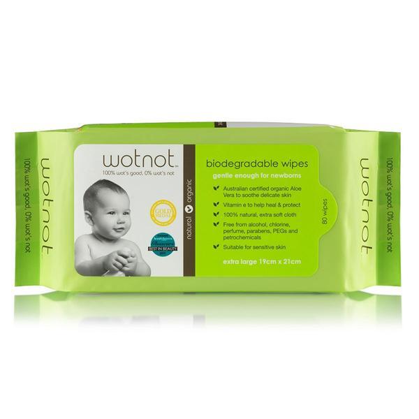 Biodegradable Natural Baby Wipes 80pk